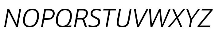 Schnebel Sans Pro Expand Light Italic Font UPPERCASE