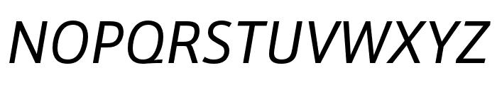 Schnebel Sans Pro Italic Font UPPERCASE