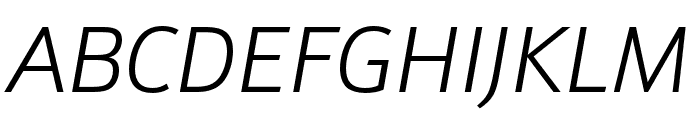 Schnebel Sans Pro Light Italic Font UPPERCASE