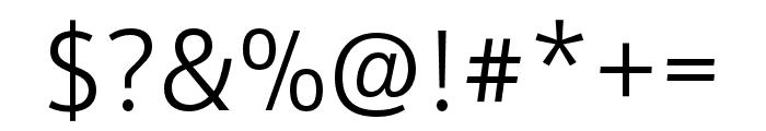 Schnebel Sans Pro Light Font OTHER CHARS