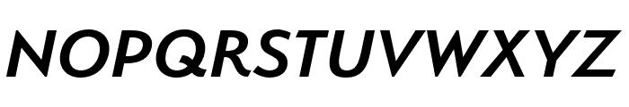 Serenity Demi Bold Italic Font UPPERCASE