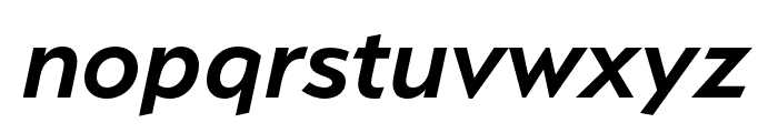 Serenity Demi Bold Italic Font LOWERCASE