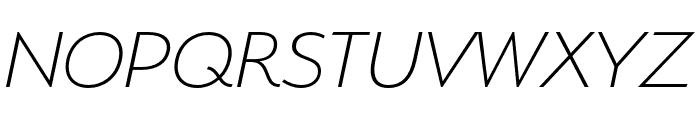 Serenity Extra Light Italic Font UPPERCASE