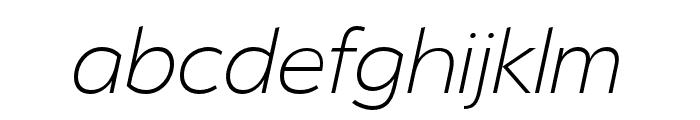 Serenity Extra Light Italic Font LOWERCASE