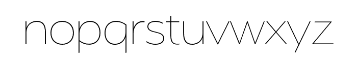 Serenity Extra Light Font LOWERCASE