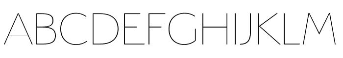 Serenity Thin Font UPPERCASE