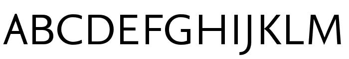 Seria Sans Pro Regular Font UPPERCASE
