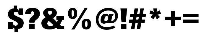 Serifa Bold Font OTHER CHARS