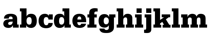 Serifa Bold Font LOWERCASE