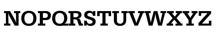 Serifa Condensed Medium Font UPPERCASE
