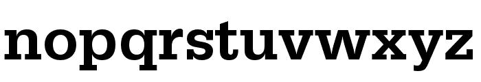 Serifa Condensed Medium Font LOWERCASE