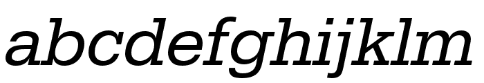 Serifa Regular Italic Font LOWERCASE