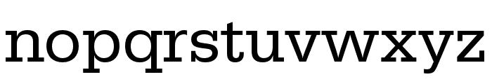 Serifa Regular Font LOWERCASE