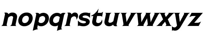 Shackleton Condensed Italic Font LOWERCASE
