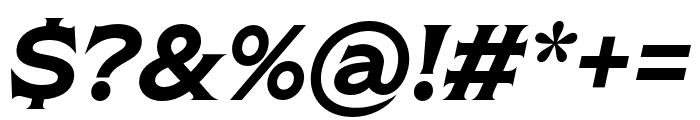 Shackleton Narrow Italic Font OTHER CHARS