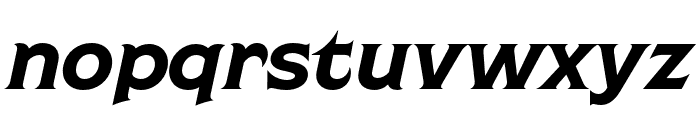 Shackleton Narrow Italic Font LOWERCASE