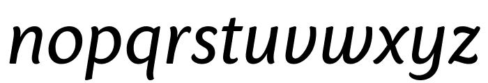 Sharik Sans Regular Italic Font LOWERCASE