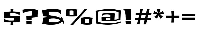 Shogun BoldExtended Font OTHER CHARS