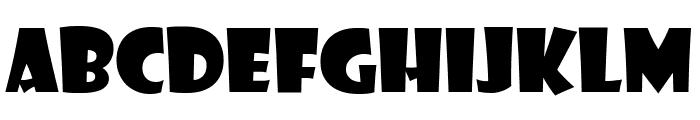 Showcard Gothic Regular Font UPPERCASE
