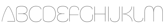 Silicone UltraLight Font UPPERCASE