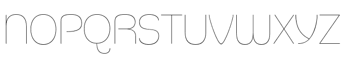 Silicone UltraLight Font LOWERCASE