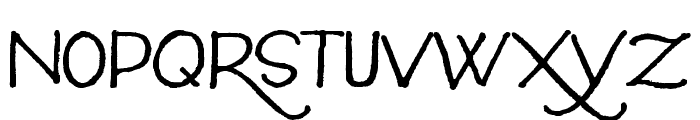 Silverstein Regular Font UPPERCASE