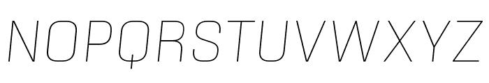 Sinter Thin Italic Font UPPERCASE