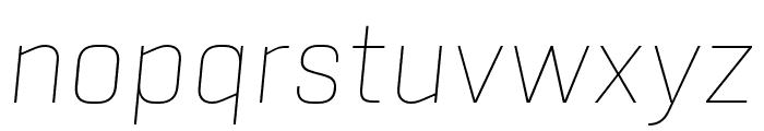 Sinter Thin Italic Font LOWERCASE