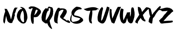 Six Hands Rough Font UPPERCASE