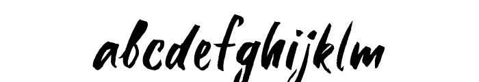 Six Hands Rough Font LOWERCASE