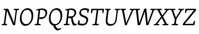 Skolar Latin Light Italic Font UPPERCASE