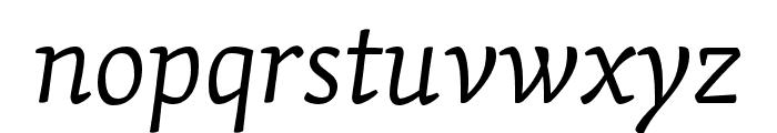 Skolar Latin Light Italic Font LOWERCASE