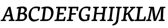 Skolar Latin Medium Italic Font UPPERCASE