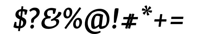 Skolar PE Medium Italic Font OTHER CHARS