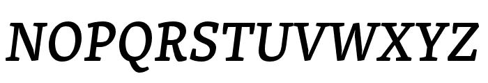 Skolar PE Medium Italic Font UPPERCASE