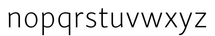 Skolar Sans Latin Compressed Extralight Font LOWERCASE