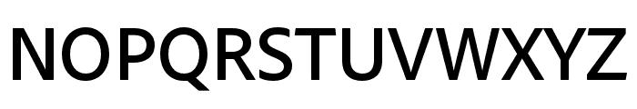 Skolar Sans Latin Compressed Thin Italic Font UPPERCASE