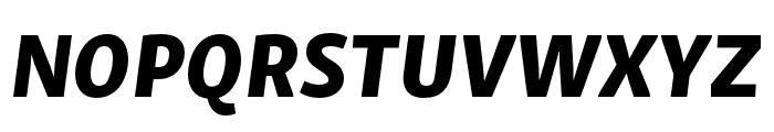 Skolar Sans Latin Condensed Extrabold Italic Font UPPERCASE