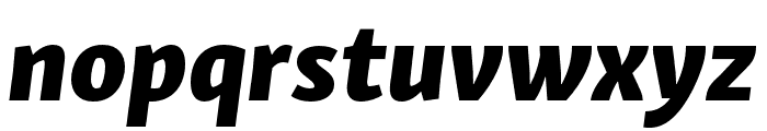 Skolar Sans Latin Condensed Extrabold Italic Font LOWERCASE