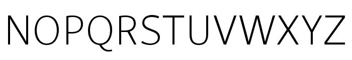 Skolar Sans Latin Condensed Extralight Font UPPERCASE