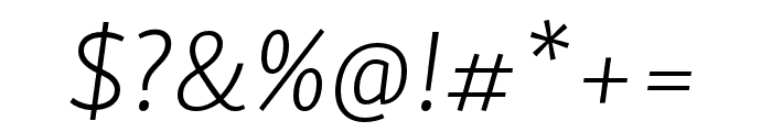 Skolar Sans Latin Extended Extralight Italic Font OTHER CHARS