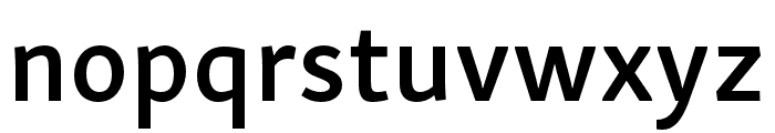 Skolar Sans PE Compressed Semibold Italic Font LOWERCASE