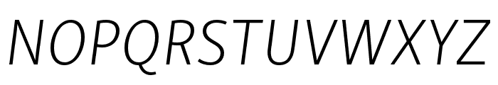 Skolar Sans PE Extended Extralight Italic Font UPPERCASE