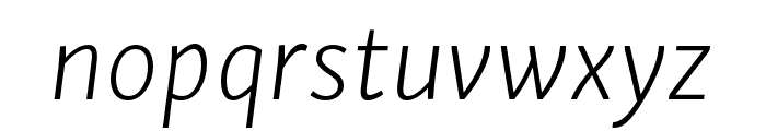 Skolar Sans PE Extended Extralight Italic Font LOWERCASE