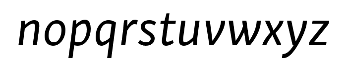 Skolar Sans PE Extended Italic Font LOWERCASE
