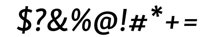 Skolar Sans PE Extended Medium Italic Font OTHER CHARS