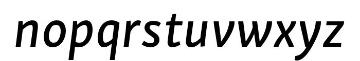 Skolar Sans PE Extended Medium Italic Font LOWERCASE