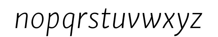 Skolar Sans PE Extralight Italic Font LOWERCASE