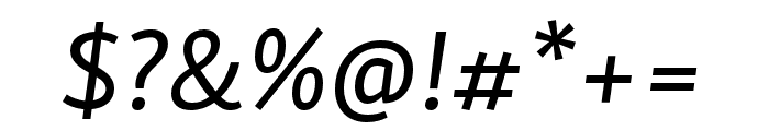 Skolar Sans PE Italic Font OTHER CHARS