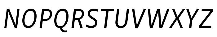 Skolar Sans PE Italic Font UPPERCASE
